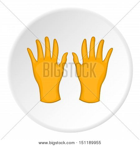 Yellow gloves icon. artoon illustration of yellow gloves vector icon for web