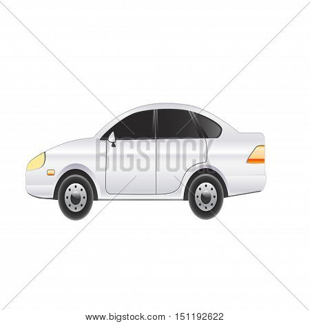Beautiful car on a white background. Vector illustration