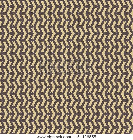Geometric vector pattern with golden arrows. Seamless abstract background