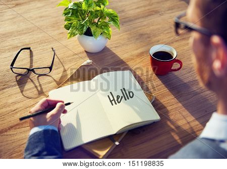Hello Hi Greeting Expression Communication Concept