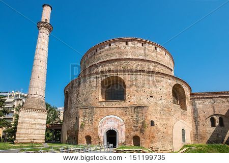 The Rotunda of Galerius (now the Greek Orthodox Church of Agios Georgios) Thessaloniki. Macedonia Greece