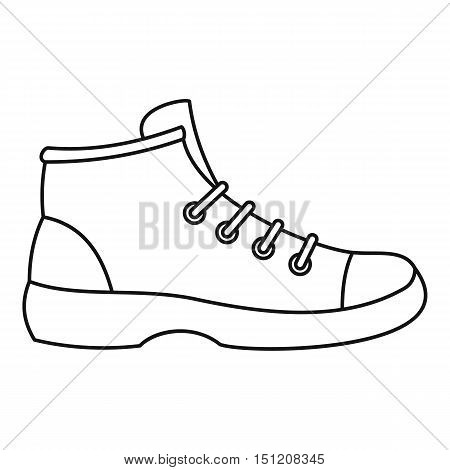 Boot icon. Outline illustration of boots vector icon for web