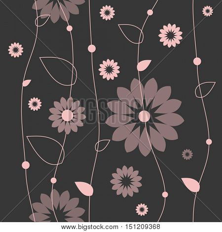 Floral seamless pattern. Graphic design element. For greeting cards, backgrounds, web design, decorative paper, textile.