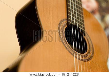 Sound Hole of a Guitar - Close Up