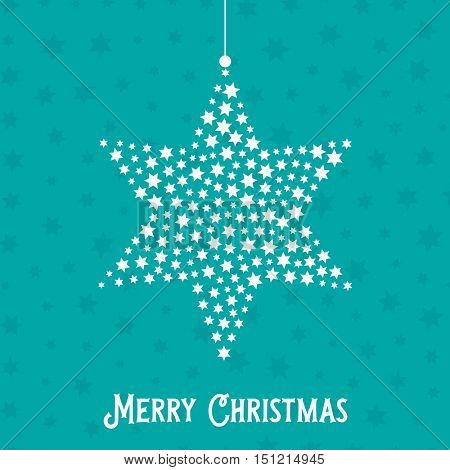 Decorative Christmas background with hanging star