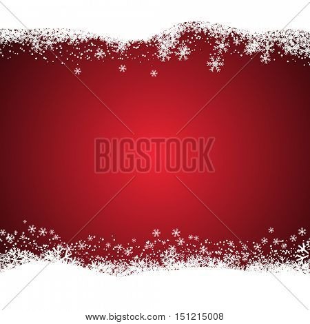 Christmas background with snowy design