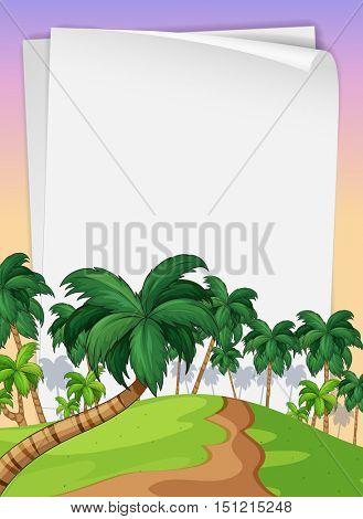 Palms on paper illustration
