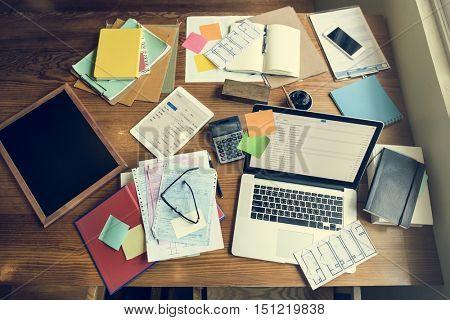 Digital Device Internet Technology Workplace Concept