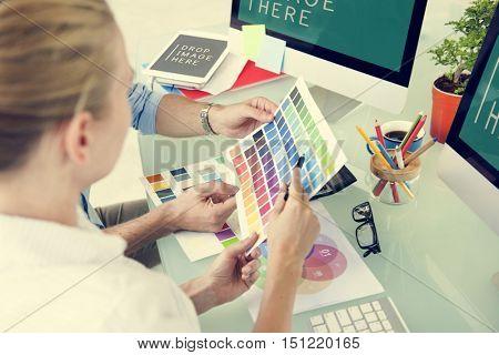 Color Swatch Creative Occupation Design Studio Concept