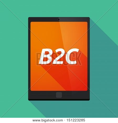 Long Shadow Tablet Pc With    The Text B2C