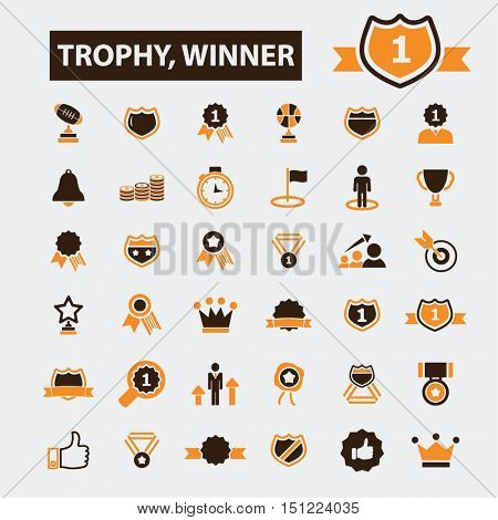 trophy winner icons