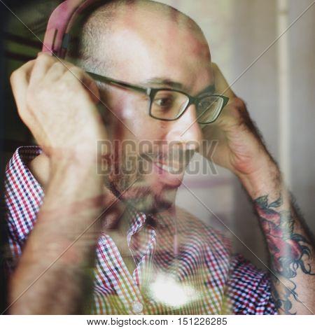 Music Song Listening Playlist Digital Man Concept