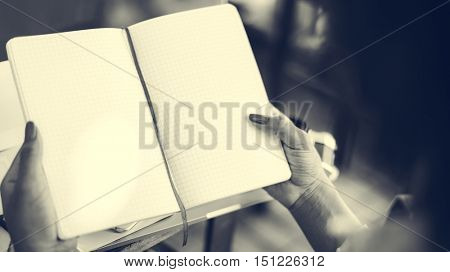 Blank Copy Space Notebook Planning Ideas Concept