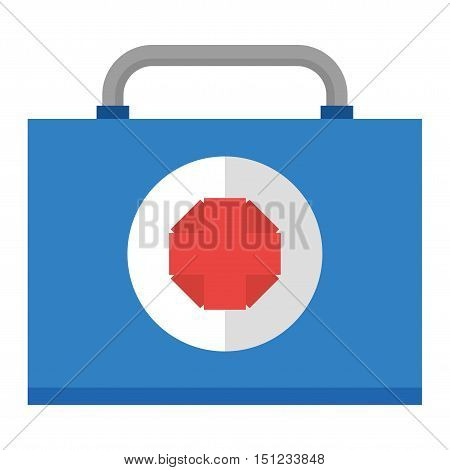 Safety car medical kit set isolated on white background. Car medical kit vector and health car medical kit design. Healthcare ambulance icon case safety car medical kit