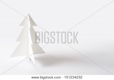 Christmas Tree Isolated On White Background. Christmas Tree Paper.