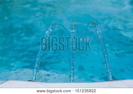 Closeup Of Water In Hot Bath Tubs
