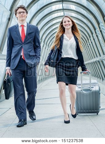 Junior Executives Dynamics In Business Trip