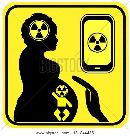 Cell Phone Use and Pregnancy. Radiation from Smartphone can harm the brain of the unborn