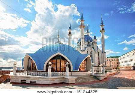 The Kul Sharif Mosque Is A One Of The Largest Mosques In Russia. The Kul Sharif Mosque Is Located In