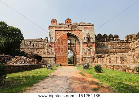 Purana qila built on the site of the most ancient of the numerous cities of Delhi Indraprastha India