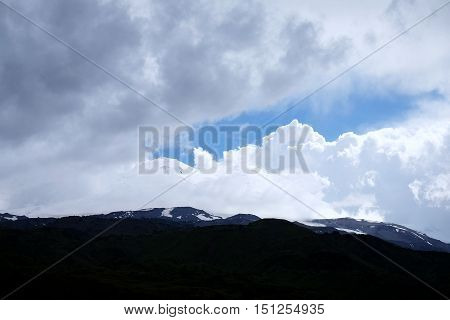 View Of Snow-covered Mountain