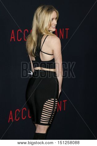 Greer Grammer at the Los Angeles premiere of 'The Accountant' held at the TCL Chinese Theater in Hollywood, USA on October 10, 2016.