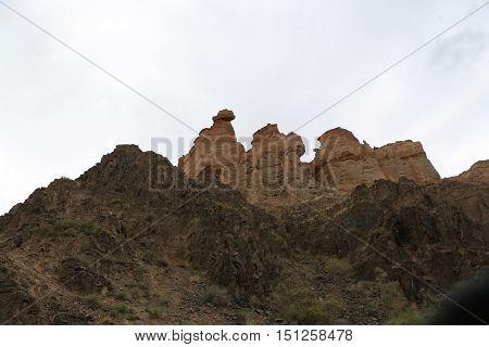 nature, landscape, mountains, rivers, mountain river, canyon, rocks, Charyn canyon, Kazakhstan