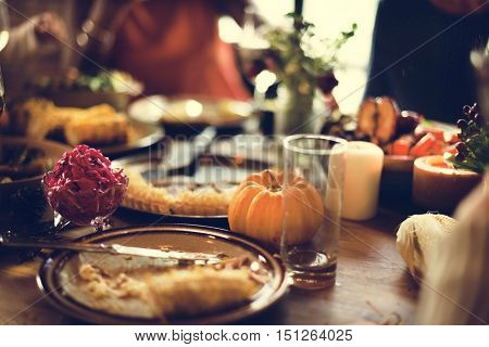 Pumpkin Pie Dessert Celebration Thanksgiving Holiday Concept