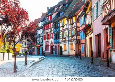 Beautiful towns of France - Colmar, with colourful half-timbered
