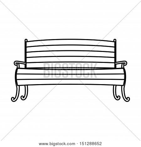 Chair in wood with legs and arms vector illustration