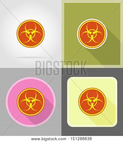 sign biohazard flat icons vector illustration isolated on background
