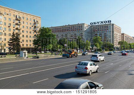 Moscow, Russia -03 June 2016. traffic on the street Kutuzovsky Prospekt