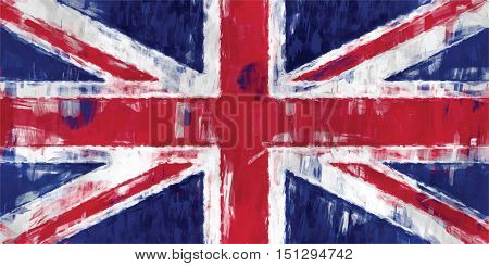 british flag sketchy painting vector background illustration