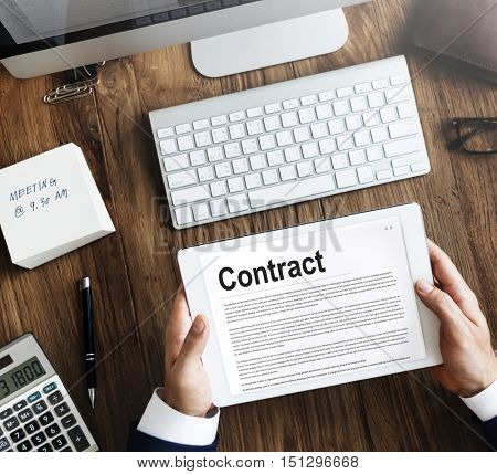 Contract Agreement Commitment Obligation Negotiation Concept
