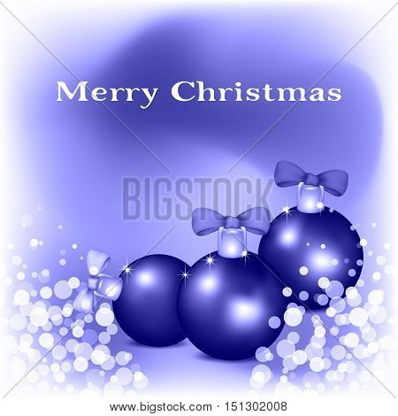Holiday card of Merry Christmas. Vector illustration.