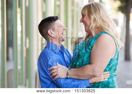 Transgender Couple Embracing Each Other