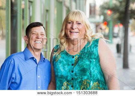 Happy Transgender Male And Female Outside