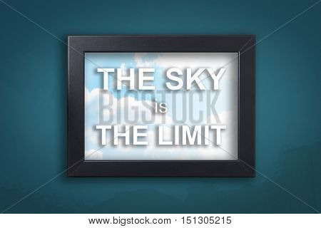 The sky is the limit in background sky frame