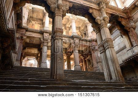 India Adalaj Stepwell is a Hindu water building in the village of Adalaj close to Ahmedabad town in the Indian state of Gujarat.