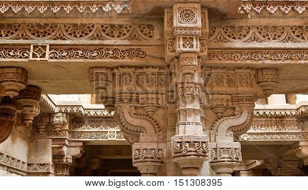 Adalaj Stepwell is a Hindu water building in the village of Adalaj close to Ahmedabad town in the Indian state of Gujarat.