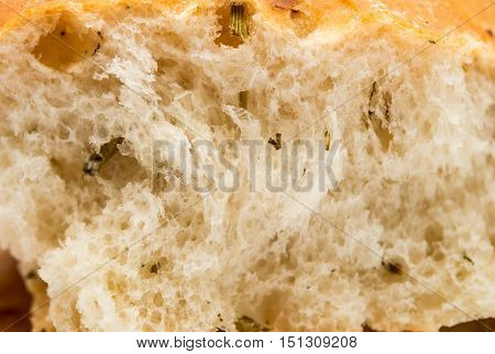 texture of white bread cookie close up