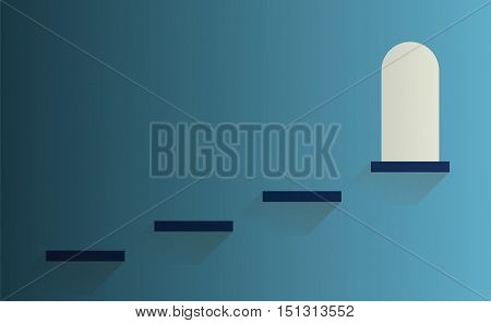 steps to light door success symbol vector illustration