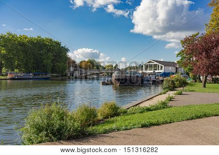 The River Thames at Reading in Berkshire