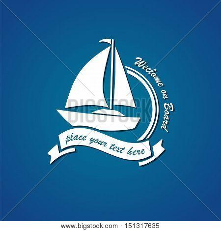 yacht club logo vector symbol emblem illustration