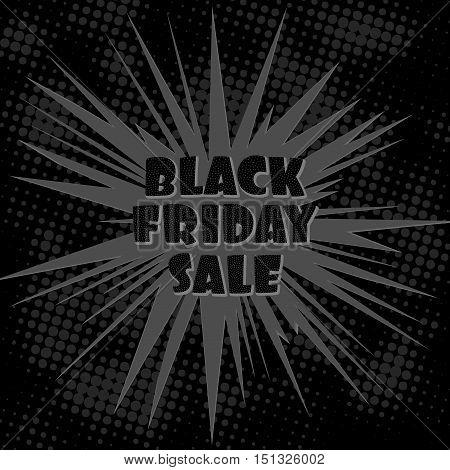 Black Friday Sale Banner, Vector design template