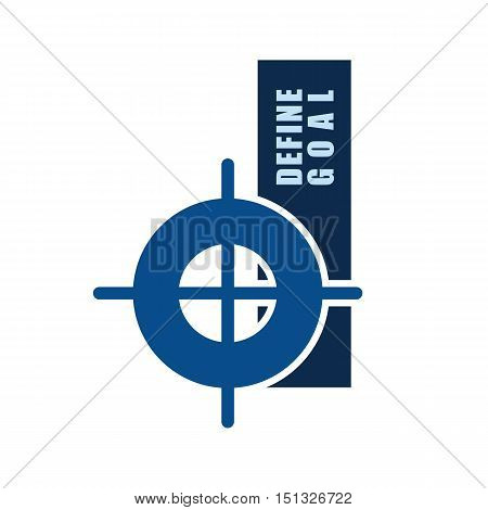 define goal target symbol small letter d design vector illustration