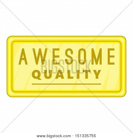 Awesome quality label icon. Cartoon illustration of awesome quality label vector icon for web