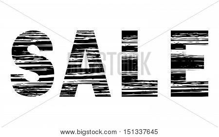 Grunge decorative inscription SALE with horizontal shading