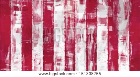 red white stripes painting abstract vector background