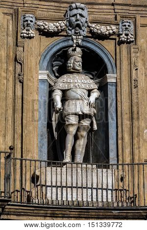 Statue Of The Spanish King Of Sicily Philip Iii